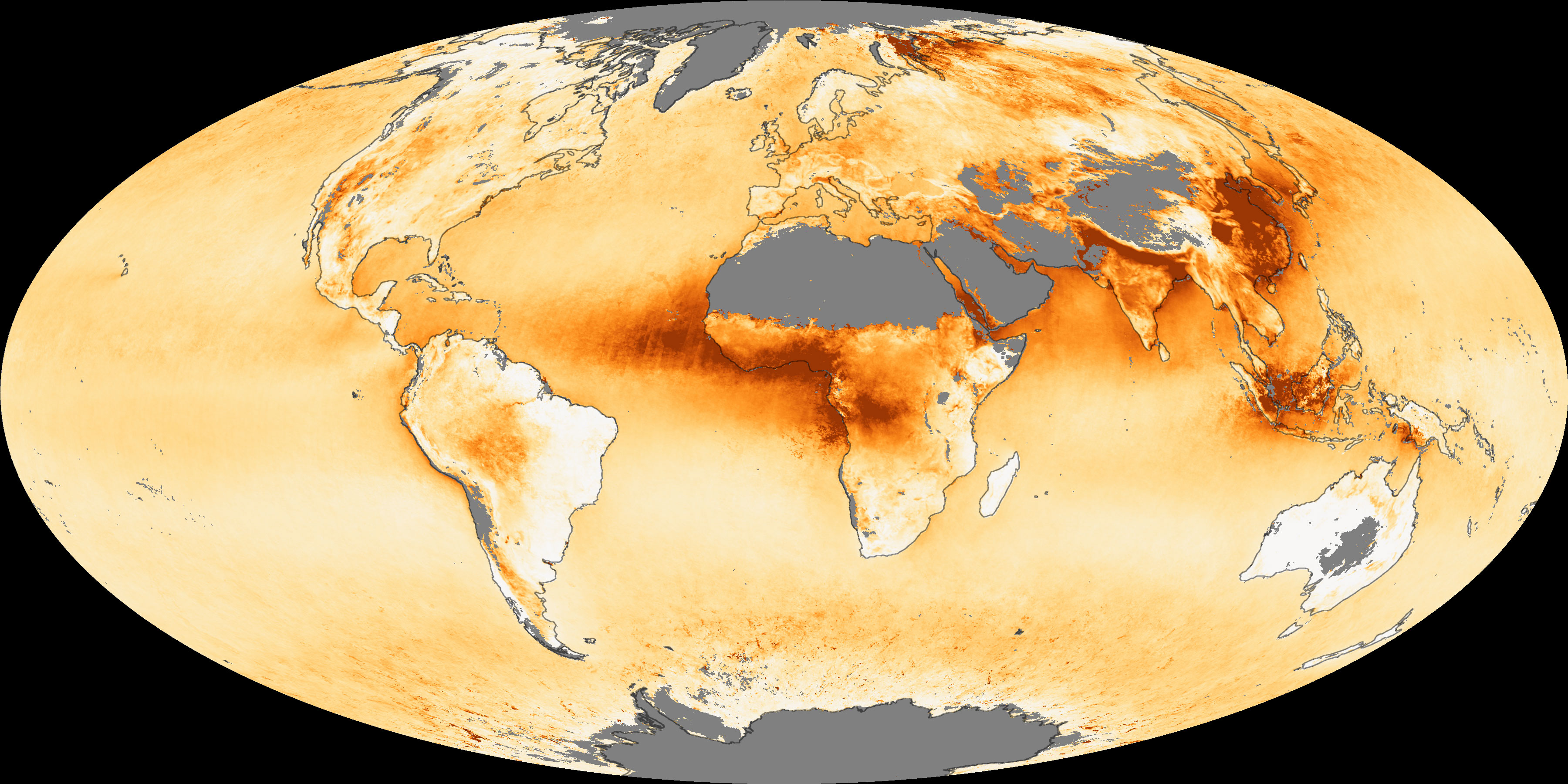 Aerosol Optical Depth In 2006 Image Of The Day