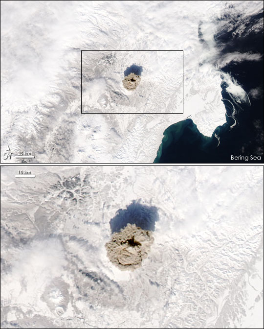 Eruption of Shiveluch Volcano, Kamchatka Peninsula