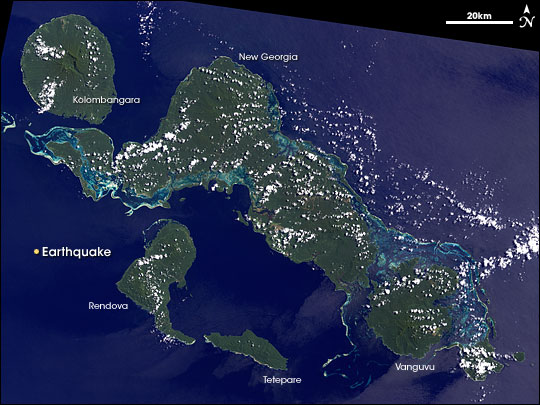 Magnitude 8.1 Earthquake off the Solomon Islands