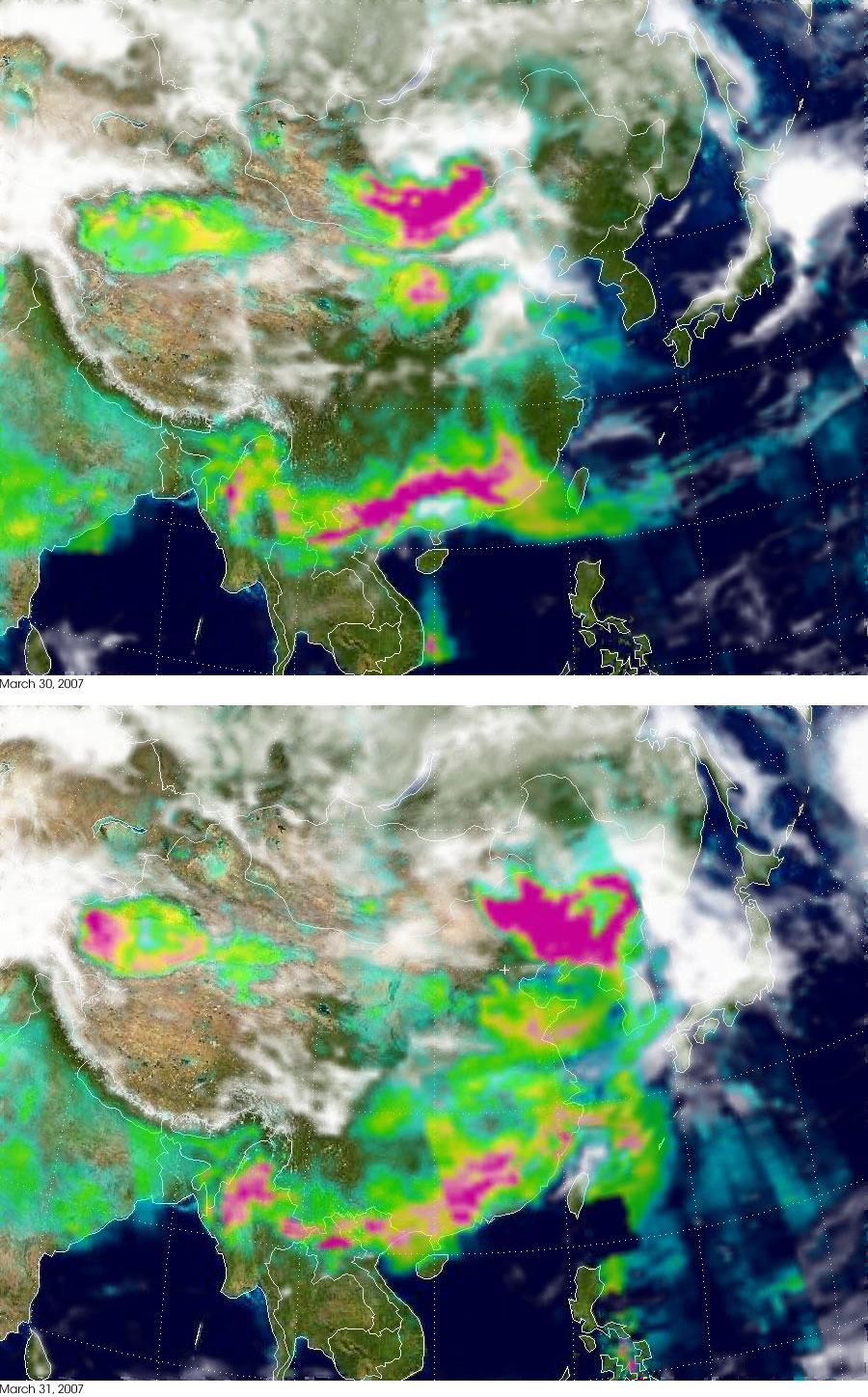 Springtime Aerosols over Eastern Asia - related image preview
