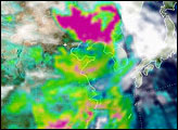 Springtime Aerosols over Eastern Asia