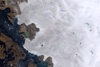 Melt Ponds on Greenland's Ice Cap - related image preview