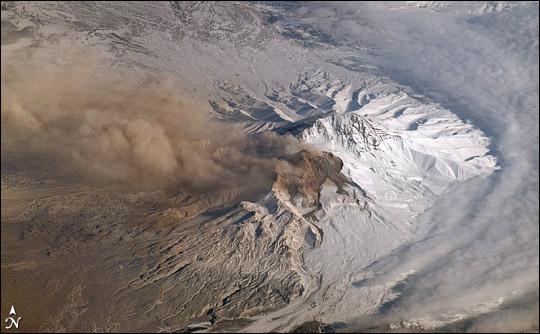Plume at Shiveluch Volcano, Kamchatka Peninsula, Russia