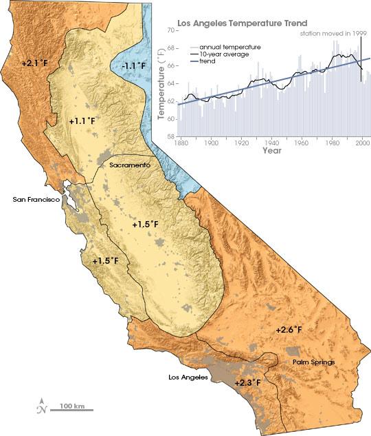 California Temperatures on the Rise
