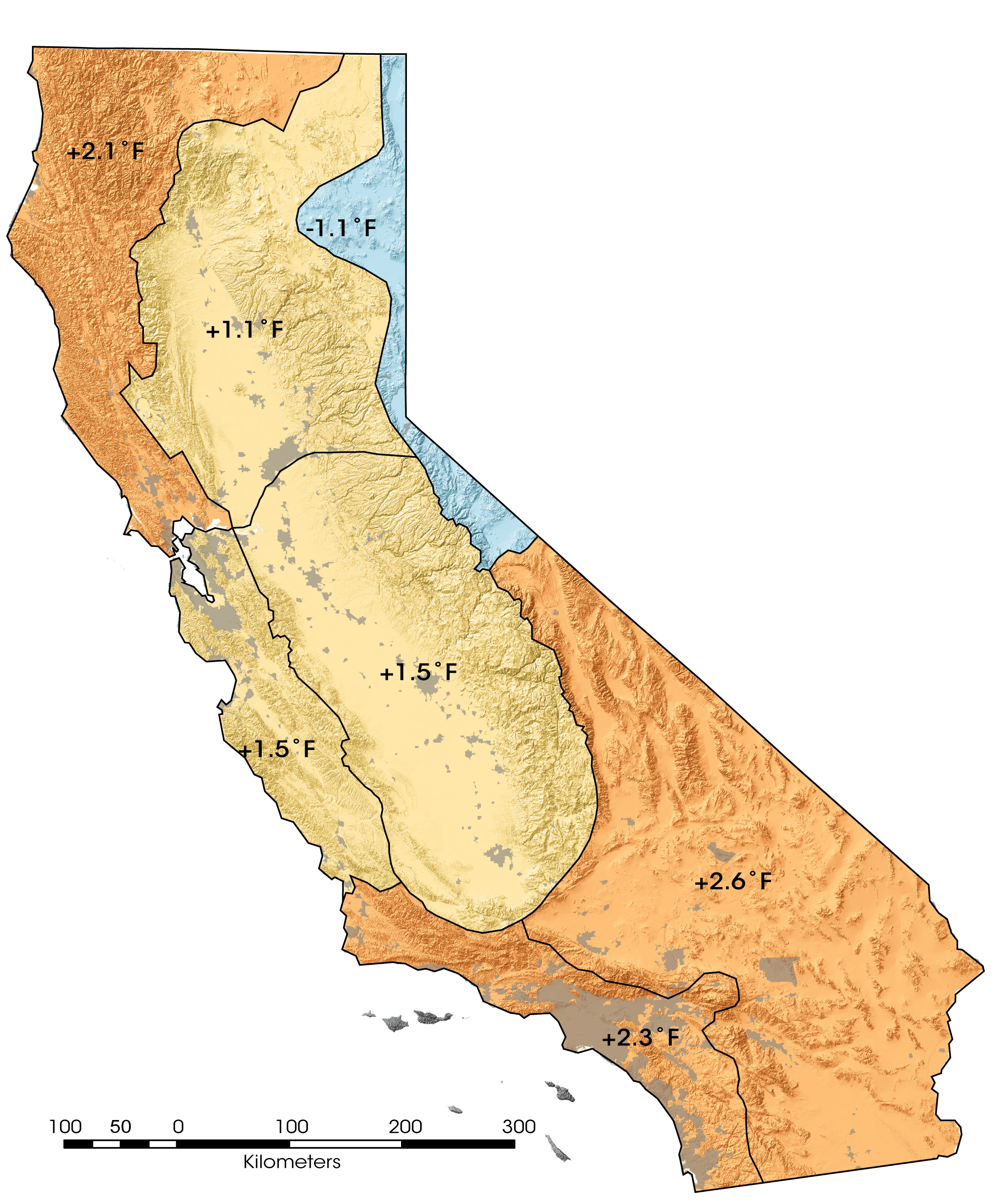 california temperatures on the rise high resolution images map