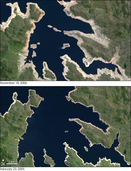 Drought Shrinks Australia's Lake Eucumbene
