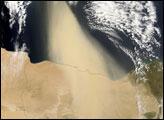Dust Plume off the Coast of Egypt