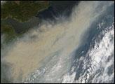 Smoke Plume Over Eastern Canada