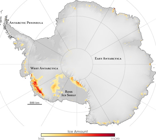 Large Area of Antarctica Melted, Re-Froze in 2005