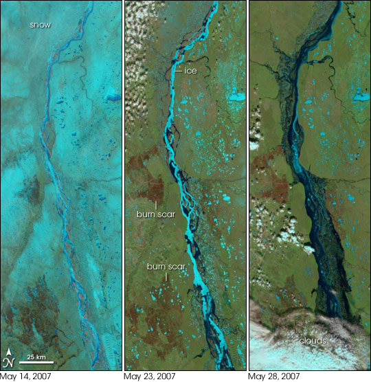 Floods on the Lena River