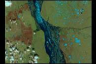 Floods on the Lena River