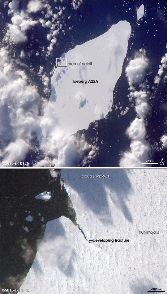 Iceberg A22A, South Atlantic Ocean