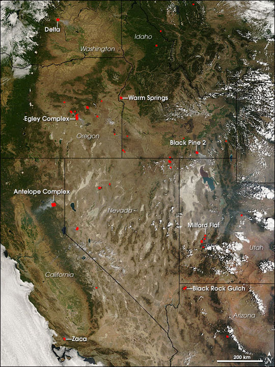Fires Across the Western United States