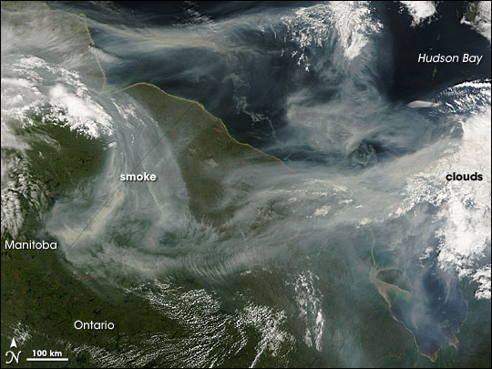 Smoke over Hudson Bay