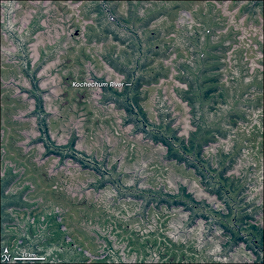Kochechum River, Central Siberian Plateau