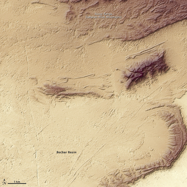 Topography of Western Algeria