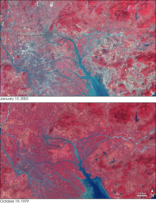 Urbanization of the Pearl River Delta