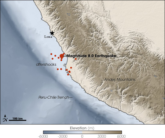 Magnitude 8.0 Earthquake off the Coast of Peru