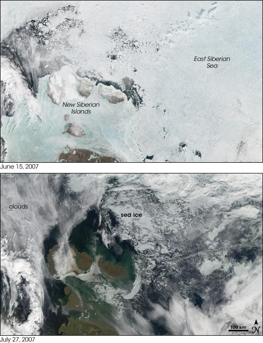 Sea Ice Retreat in the East Siberian Sea