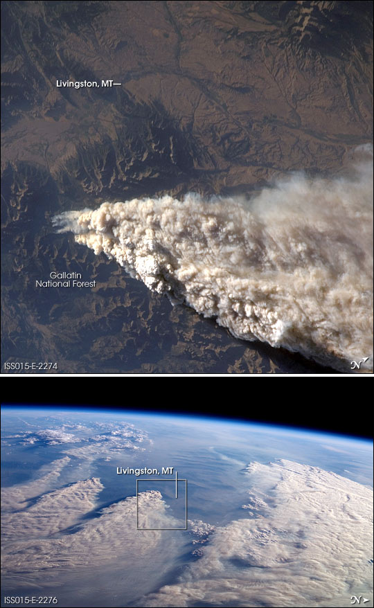 Smoke Plumes over Idaho and Montana