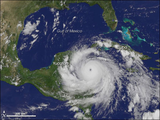 Hurricane Dean Approaches Yucatan Peninsula