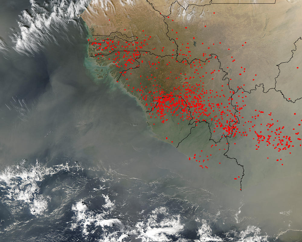 Dust and fires across West Africa - related image preview