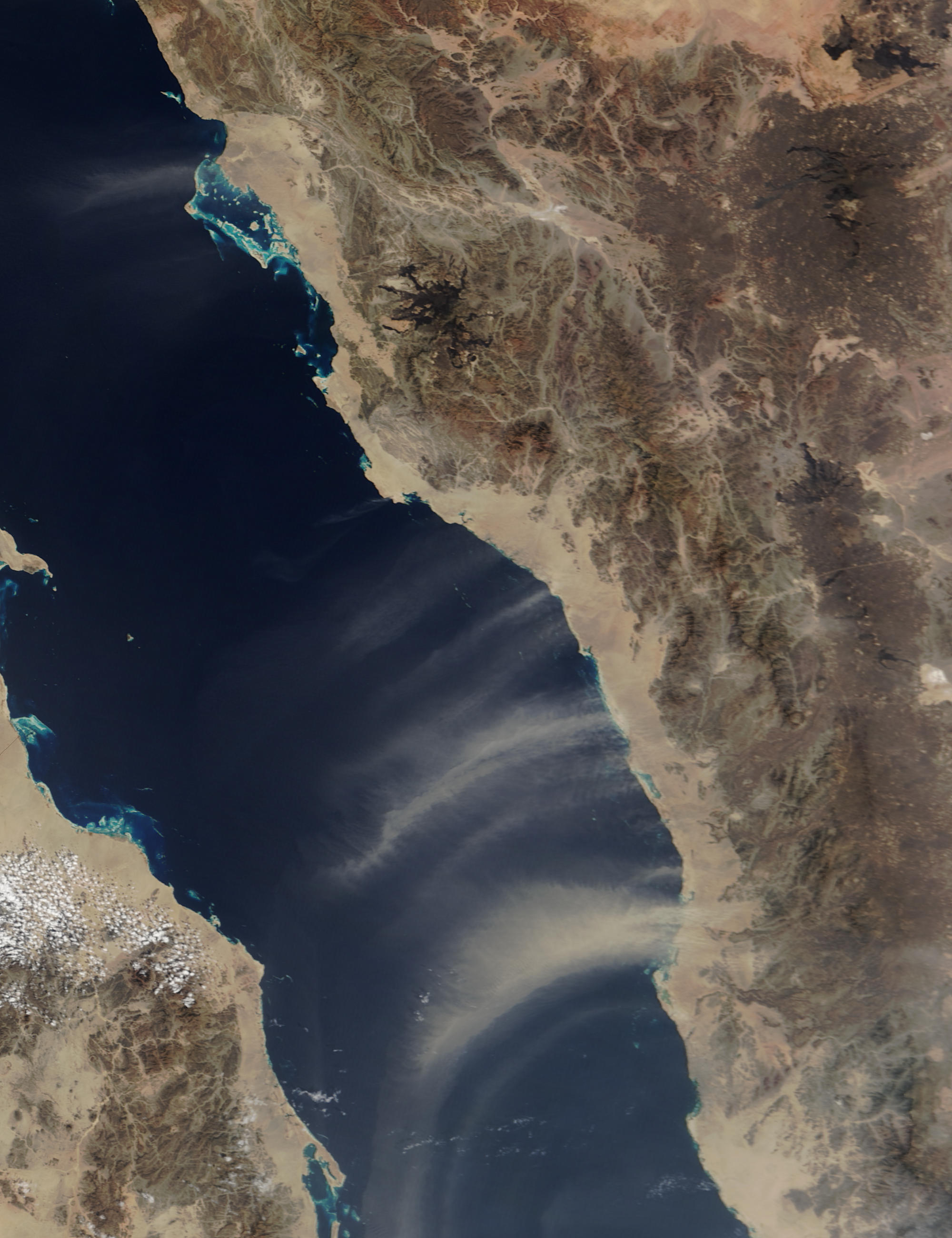 Dust storms over the Red Sea - related image preview