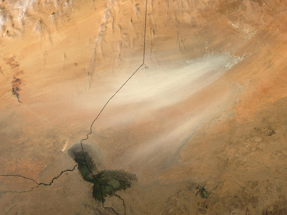 Dust storm in Bodele Depression, Chad (afternoon overpass) - related image preview