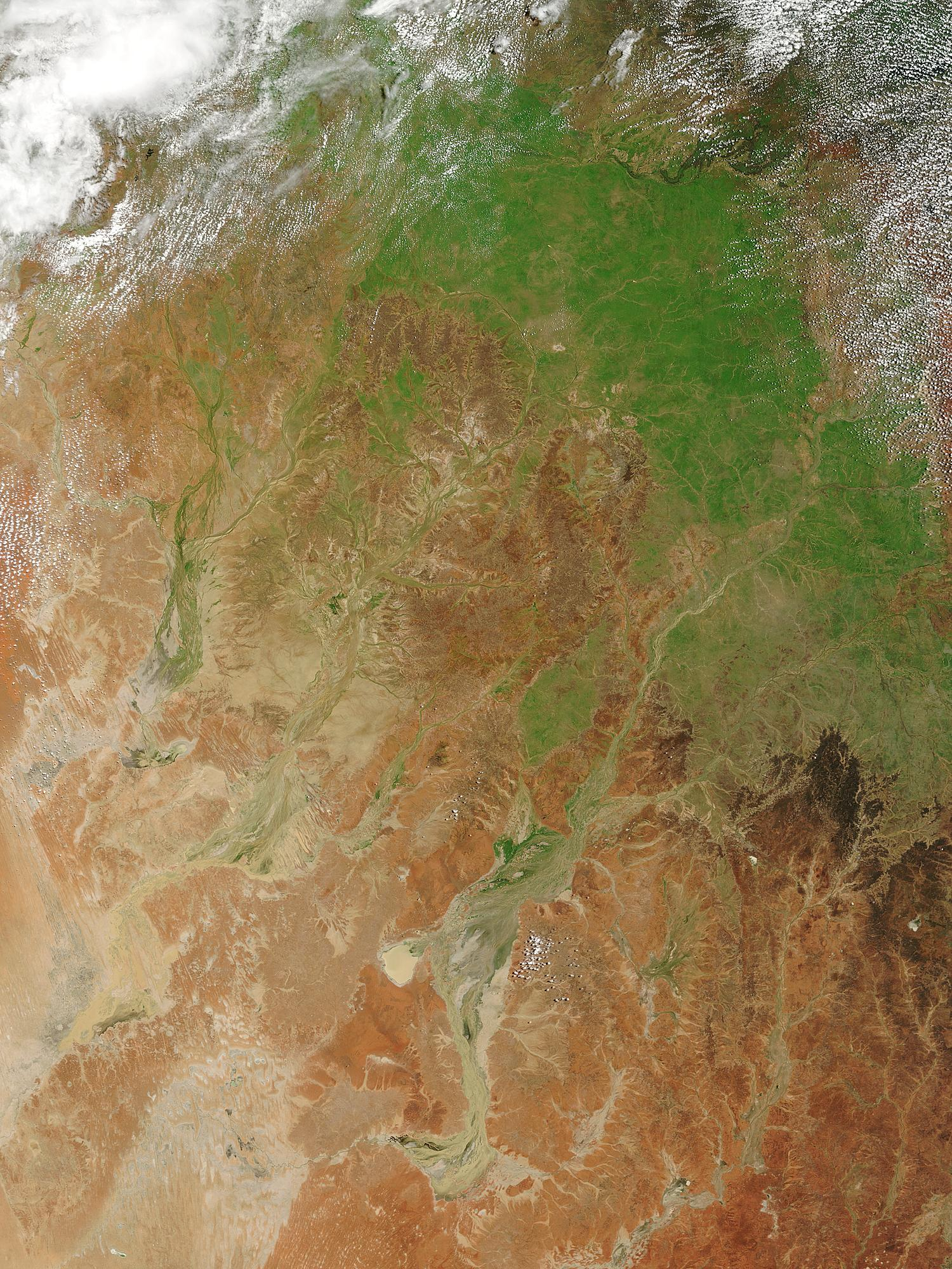 Floods and green-up in Queensland, Australia - related image preview