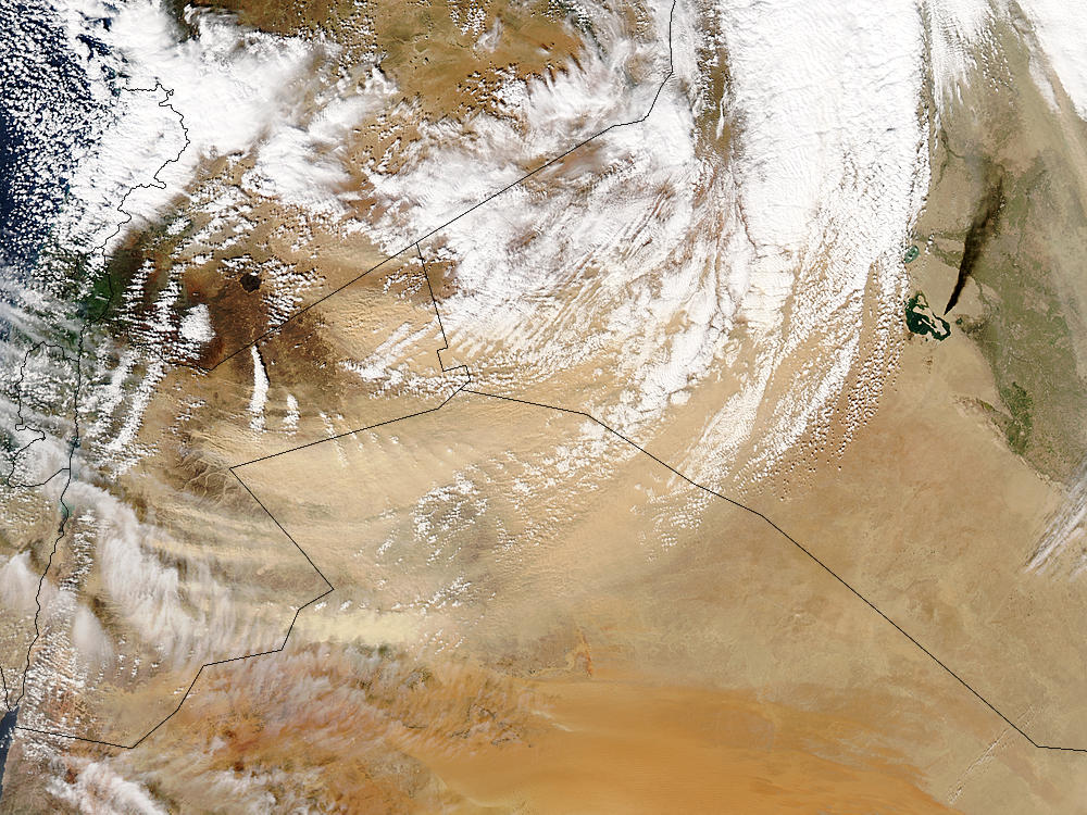 Dust storm in Jordan, oil fire in Iraq - related image preview
