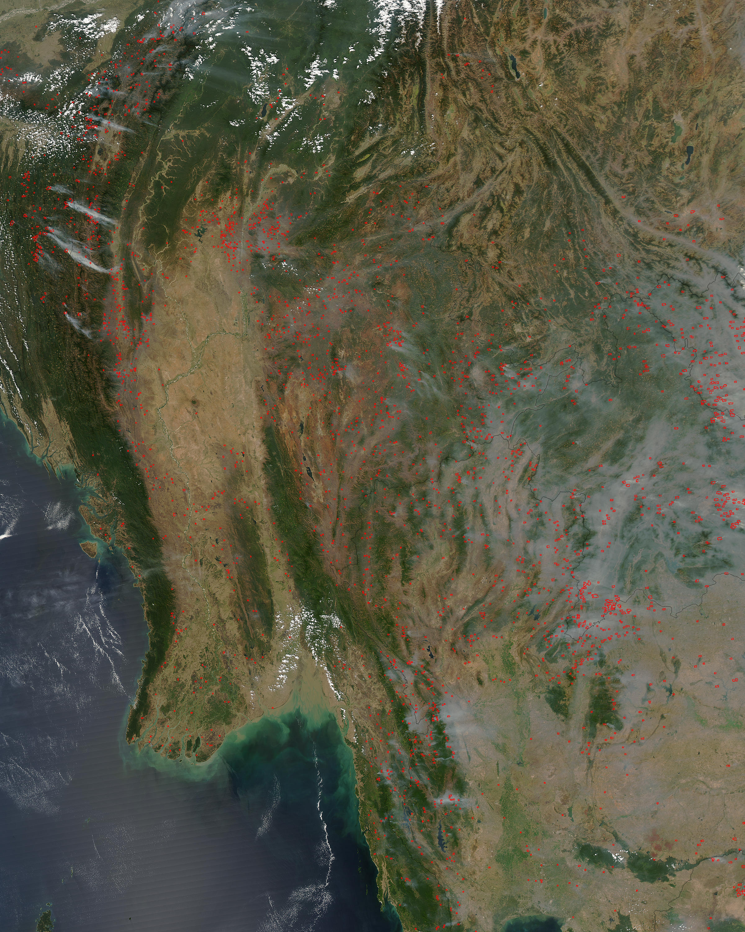 Fires and smoke in Indochina - related image preview