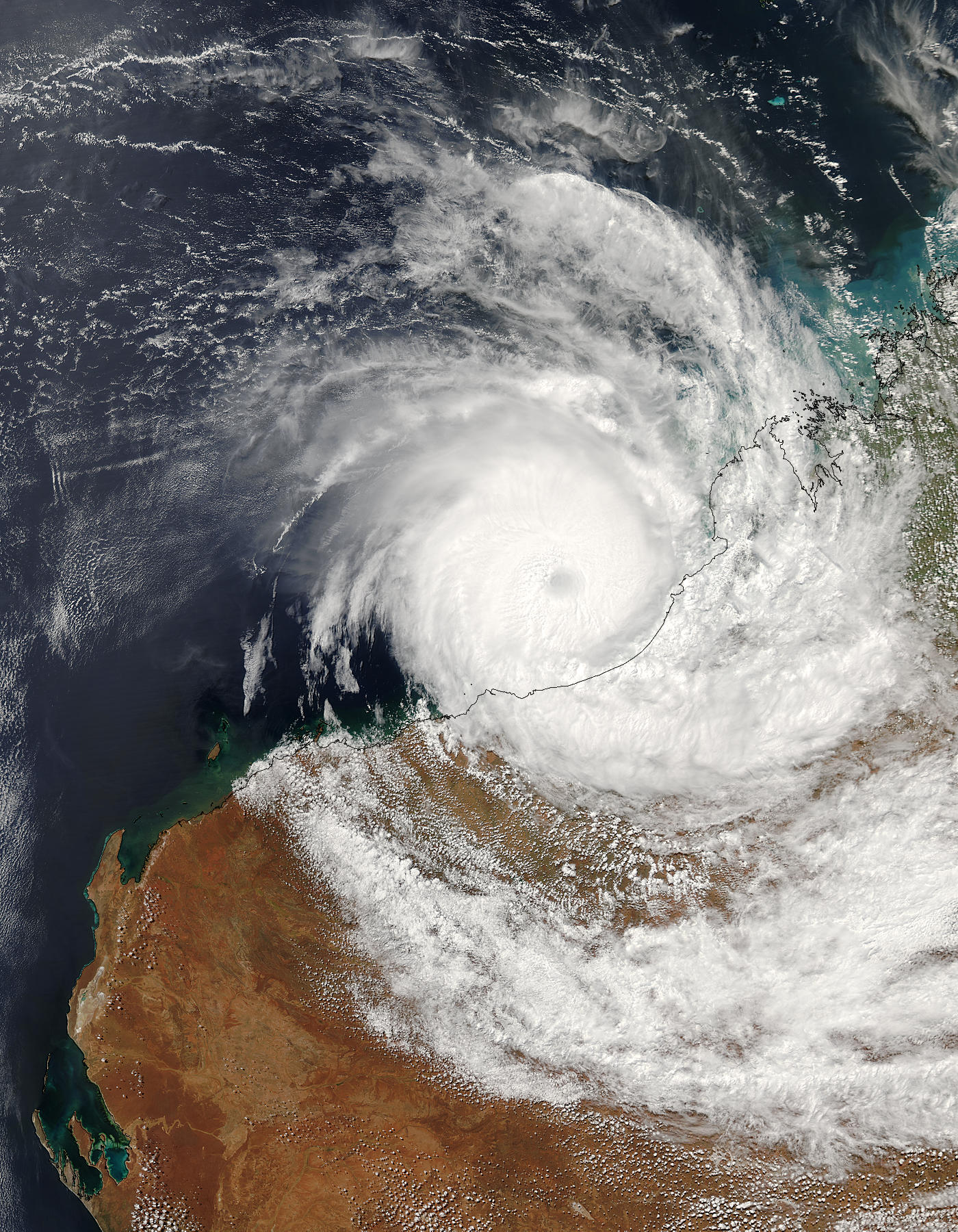Tropical Cyclone Fay (18S) over Western Australia - related image preview