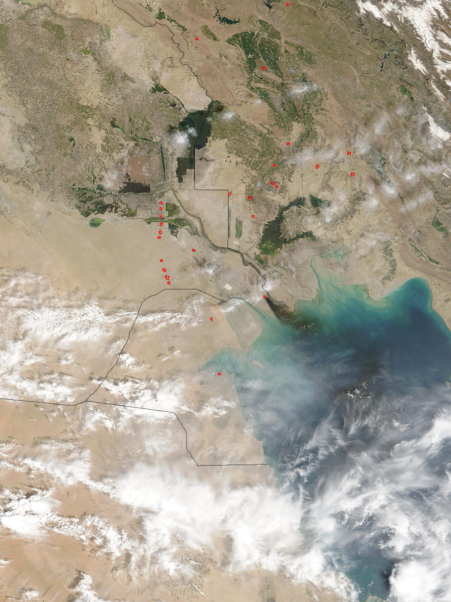 Smoke from pipeline fire in Southern Iraq - related image preview