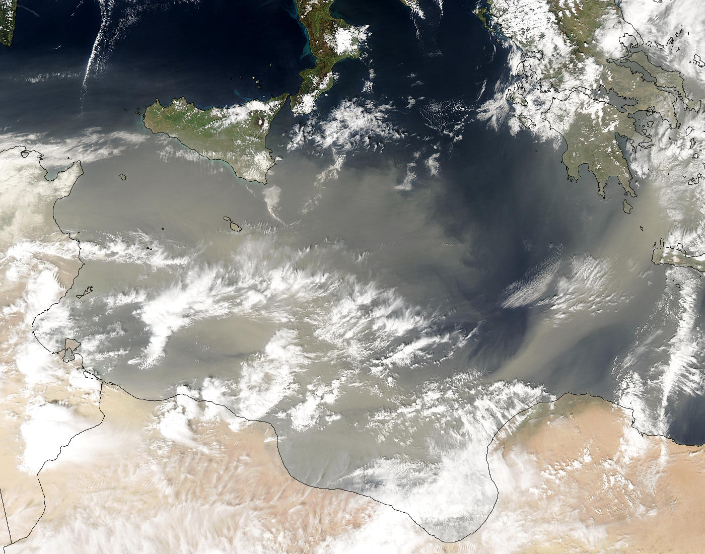 Saharan dust over the Mediterranean - related image preview