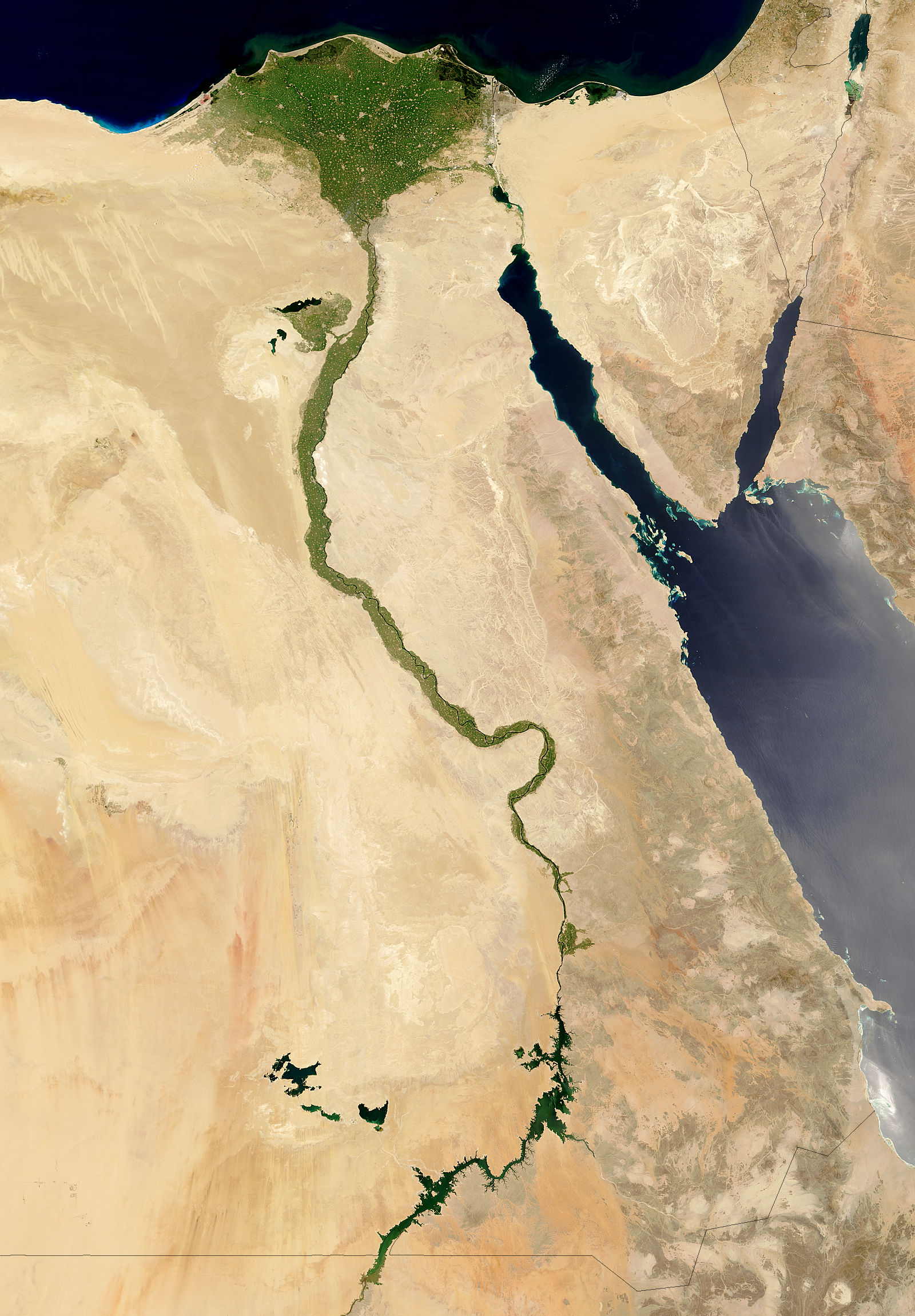 NASA Visible Earth The Nile Egypt - Map of egypt hd