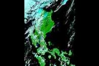 Floods in the Philippines (false color)