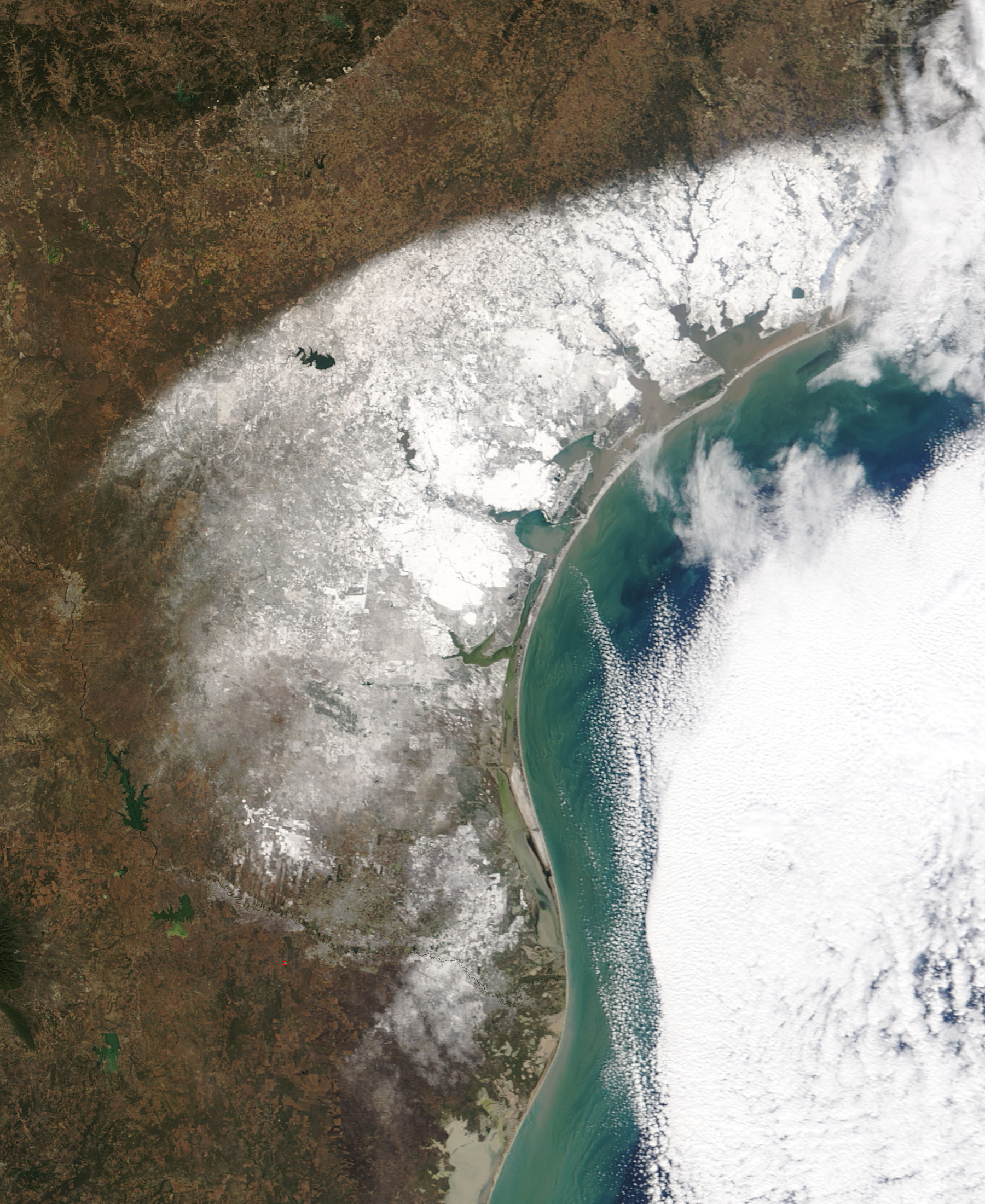 Gulf Of Mexico Vacation Spots In Texas: NASA Visible Earth: Record Snow In Texas