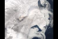 Ash Plume from Kamchatka