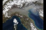 Haze in northern Italy