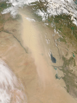Dust storm in Iraq and Syria - selected image