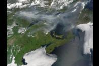 Smoke across eastern Canada