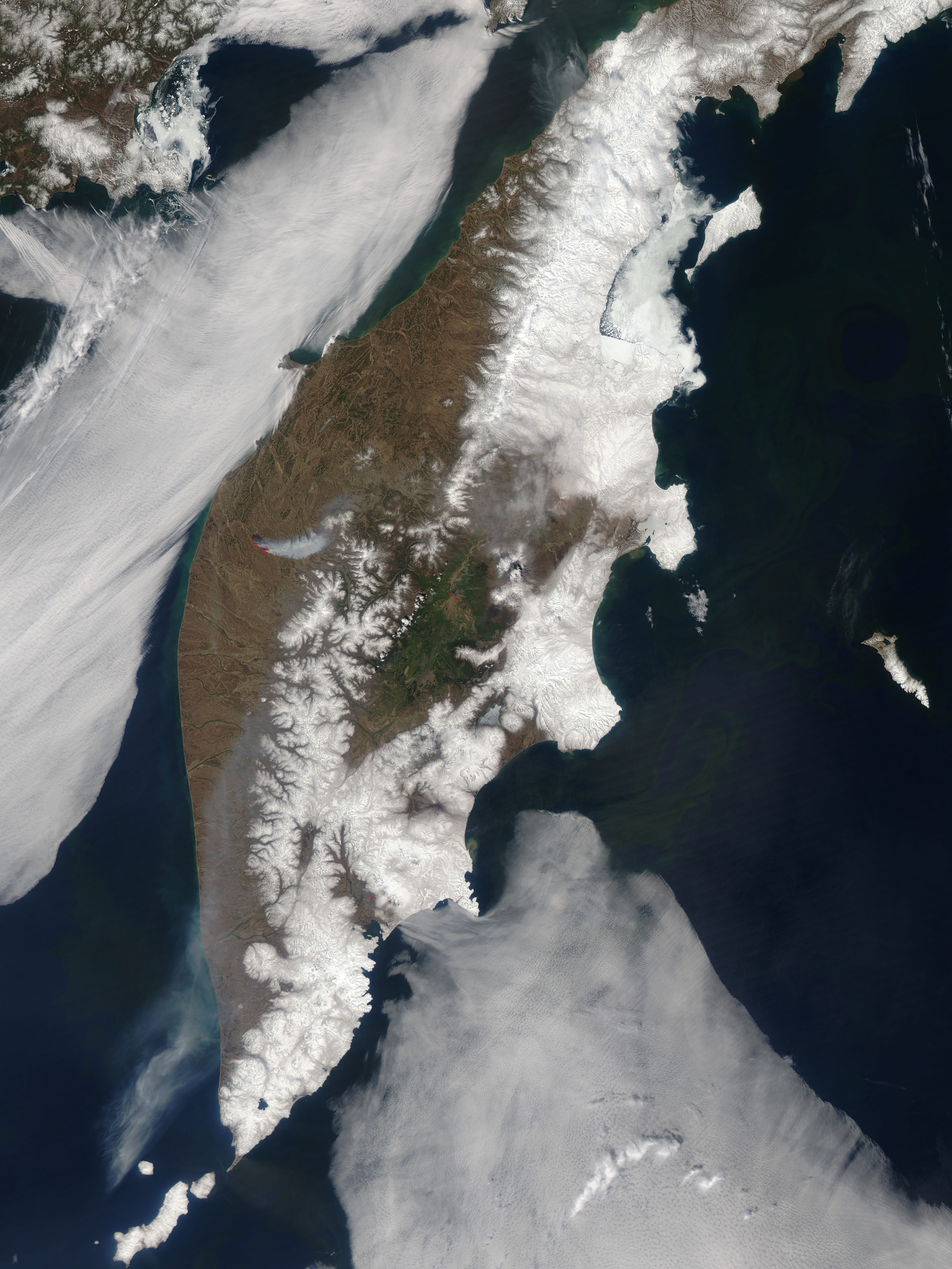 Fires and smoke on Kamchatka Peninsula, Eastern Russia - related image preview