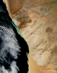 Hydrogen sulphide eruptions along the coast of Namibia - selected image