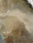 Dust Storm in Pakistan and India - selected image
