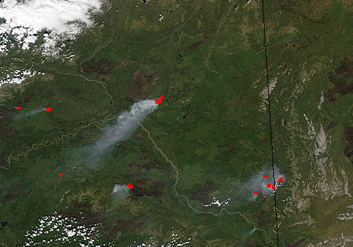 Fires in Eastern Alaska - related image preview