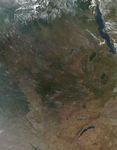 Fires in Central Africa - selected image