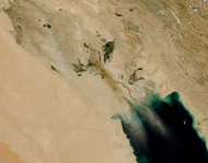 Dust storm in Southern Iraq - selected image