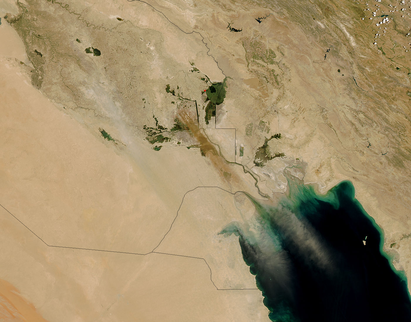 Dust storm in Southern Iraq - related image preview