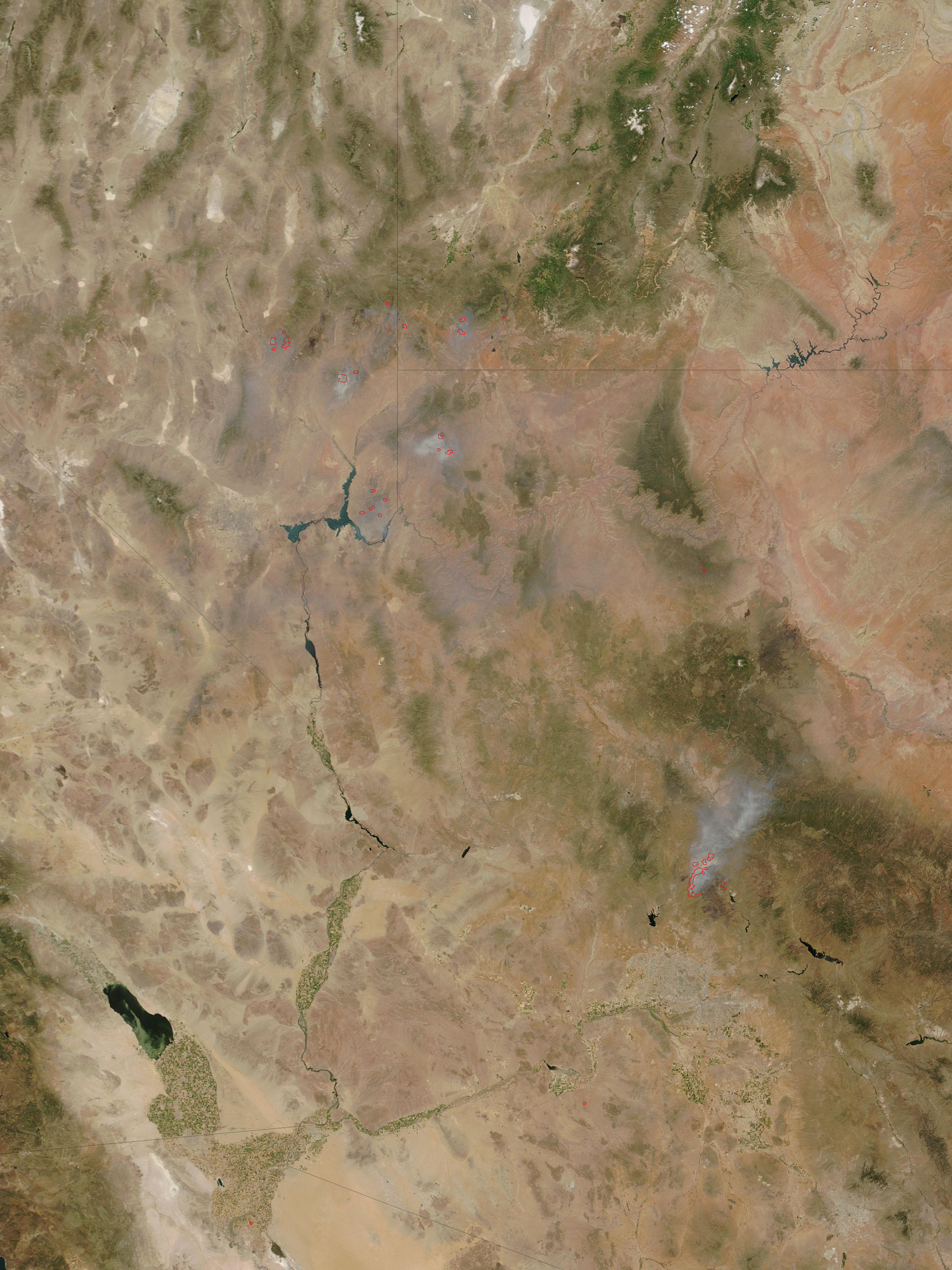 Fires and burn scars in the SW United States - related image preview