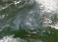 Fires and smoke in central Siberia - selected image